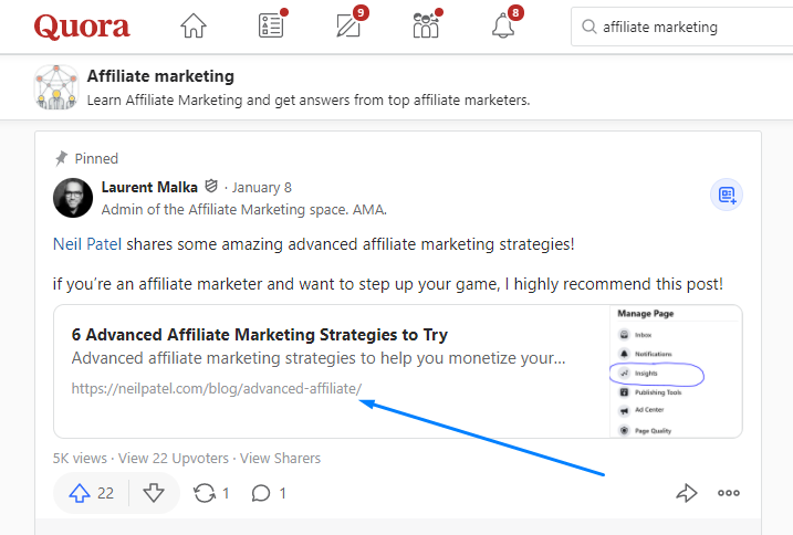 Affiliate Marketing Traffic from Quora