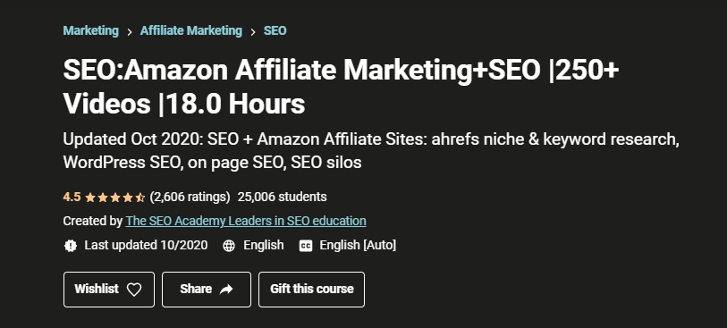 Amazon Affiliate Marketing+SEO