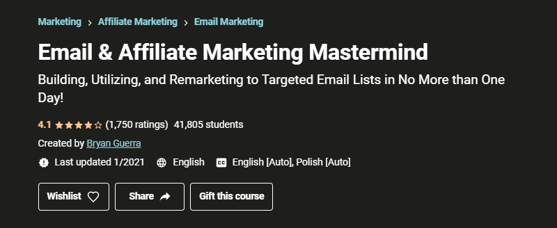 Email & Affiliate Marketing Mastermind