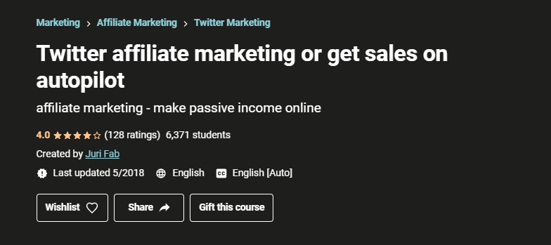 Twitter Affiliate Marketing or get sales on autopilot